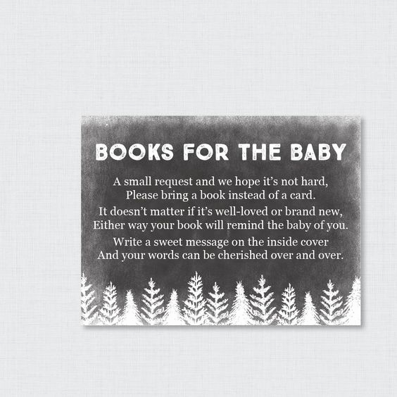 Baby Shower Invitation Inserts Lovely Winter Baby Shower Bring A Book Instead Of A Card