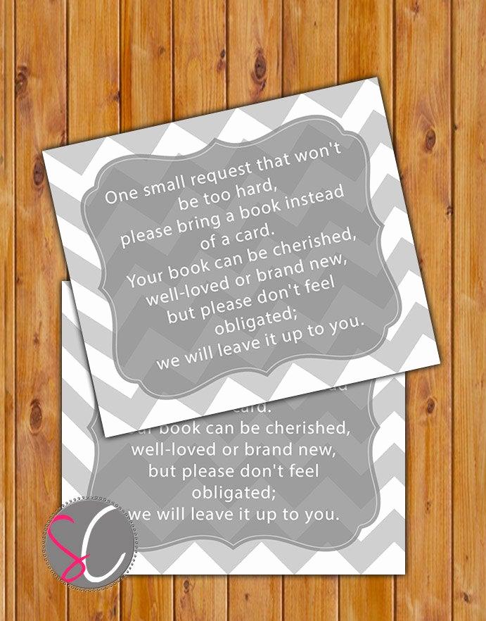 Baby Shower Invitation Inserts Luxury In Lieu Of Card Book Baby Shower Invitation Inserts