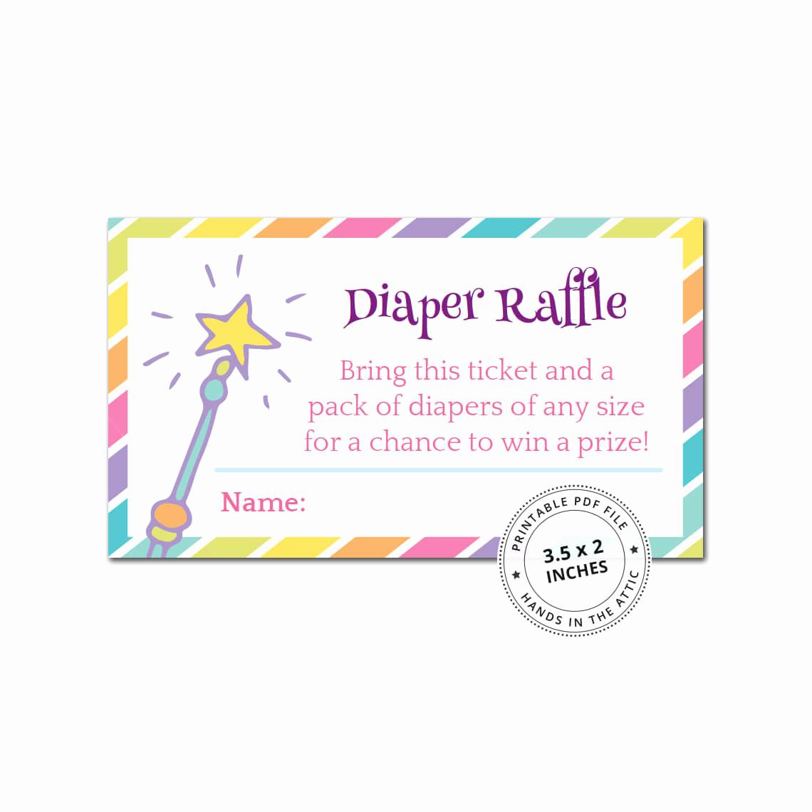 Baby Shower Invitation Inserts Unique Rainbow Baby Shower Diaper Raffle