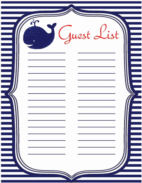 Baby Shower Invitation List Best Of Baby Shower Instant Download Guest List Sign In Sheet