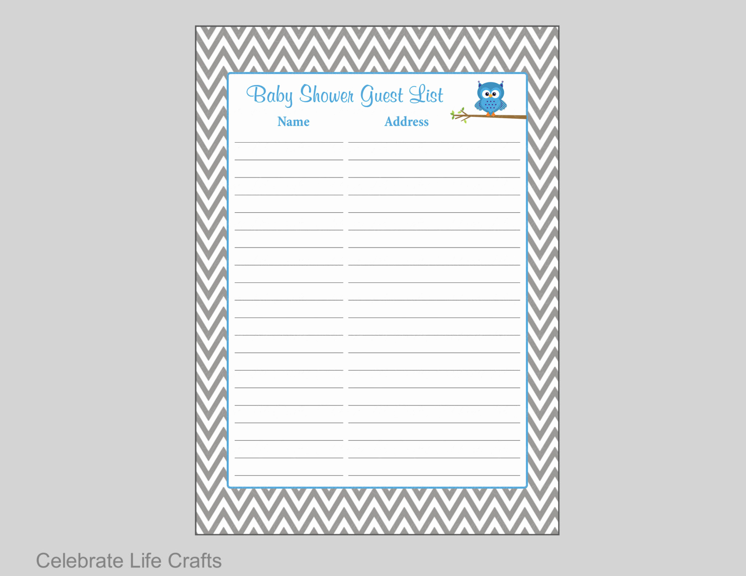 Baby Shower Invitation List Fresh Owl Baby Shower Guest List Printable Baby Shower Sign In