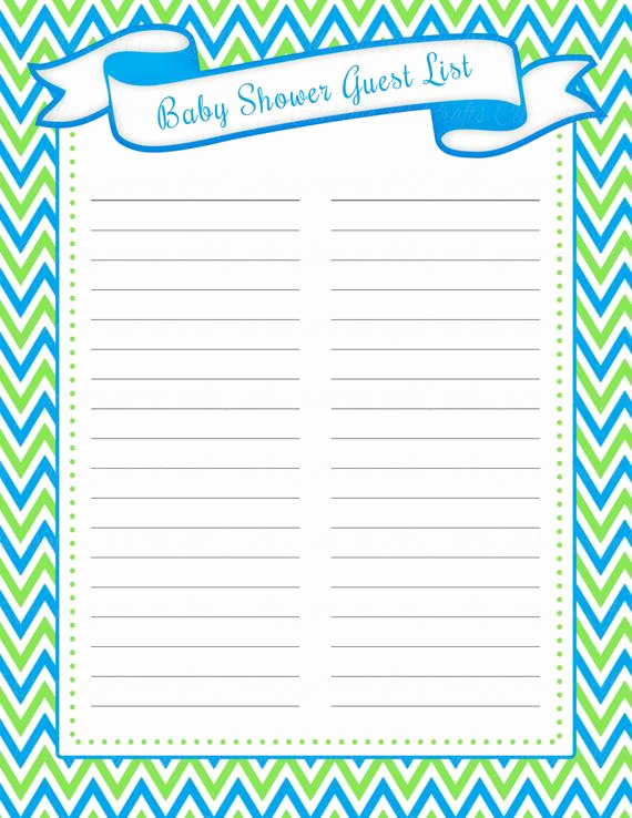 Baby Shower Invitation List Luxury Baby Shower Guest List Printable Baby by Celebratelifecrafts