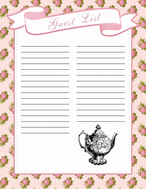 Baby Shower Invitation List Unique Baby Shower Guest List Printable Baby Shower Party