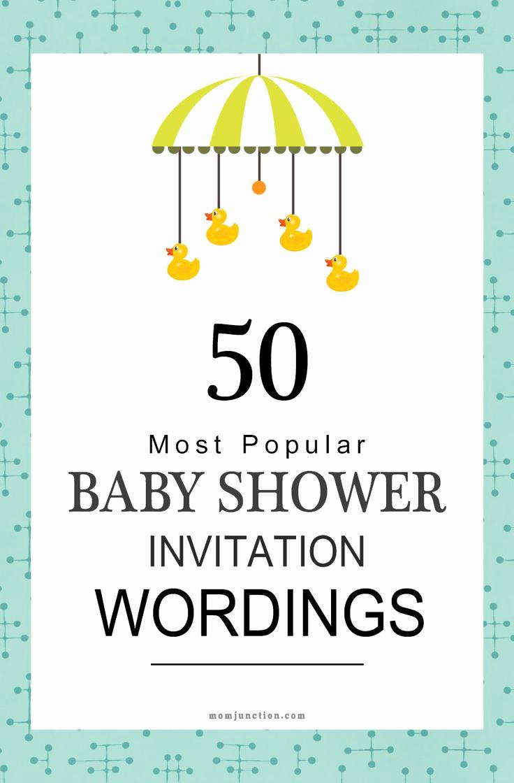 Baby Shower Invitation Message Beautiful 25 Best Ideas About Baby Shower Invitations On Pinterest