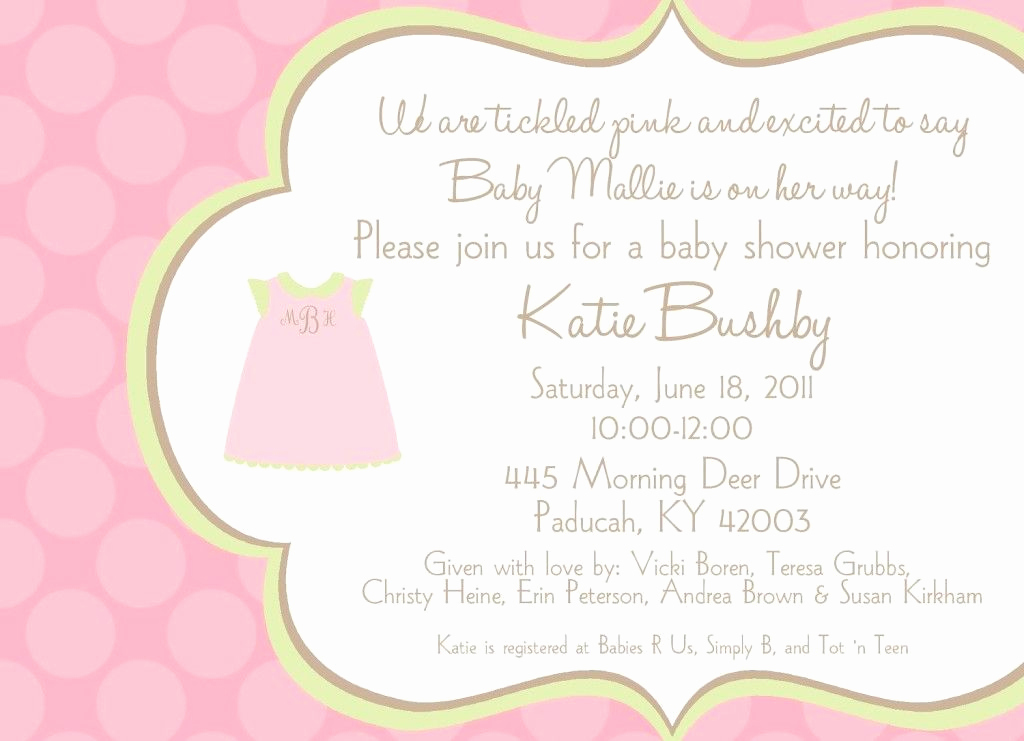 Baby Shower Invitation Message Lovely Baby Shower Invitation Ideas for Wording Baby Shower