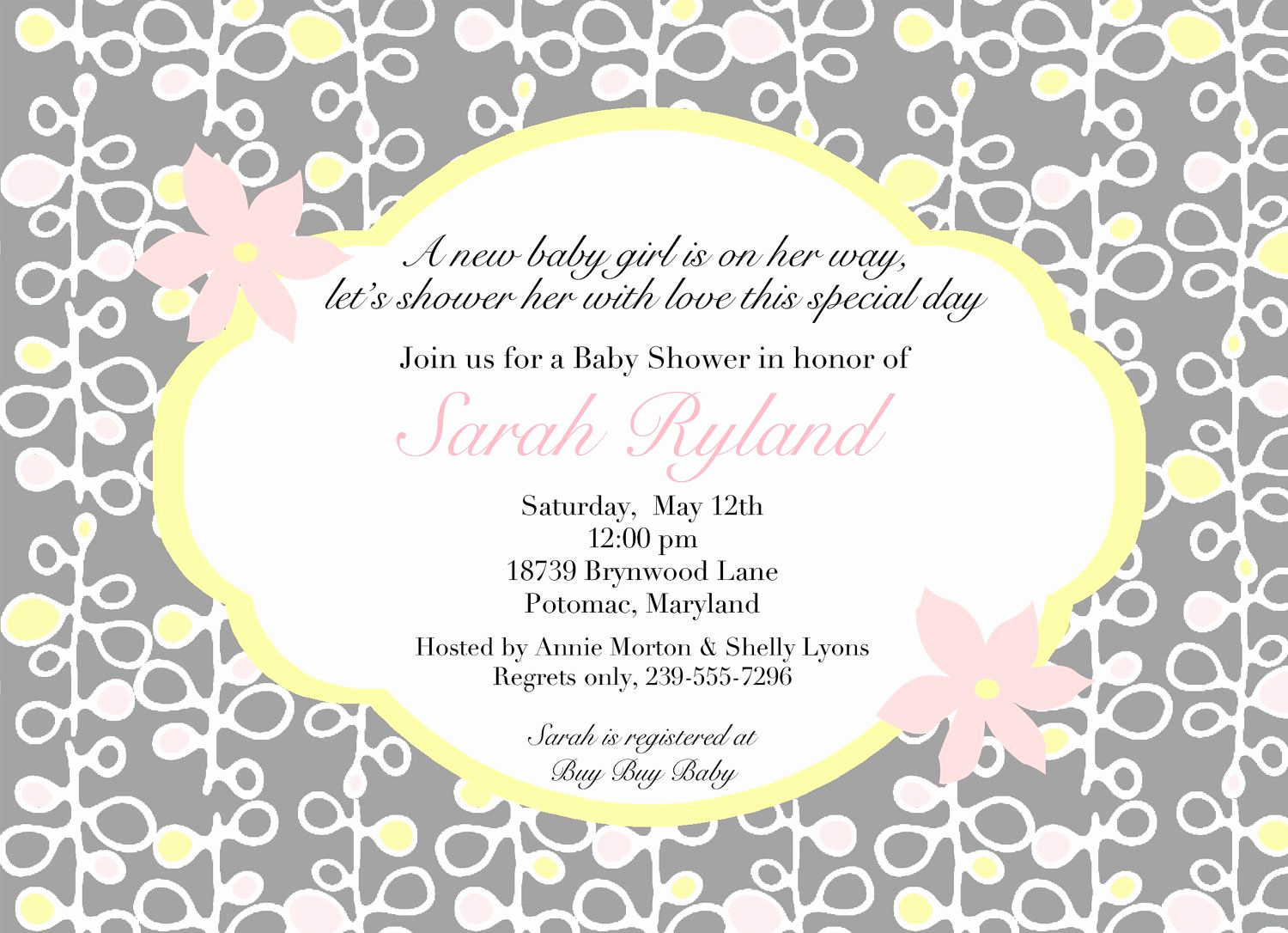 Baby Shower Invitation Message Unique Download Free Template Baby Shower Invitation Wordings