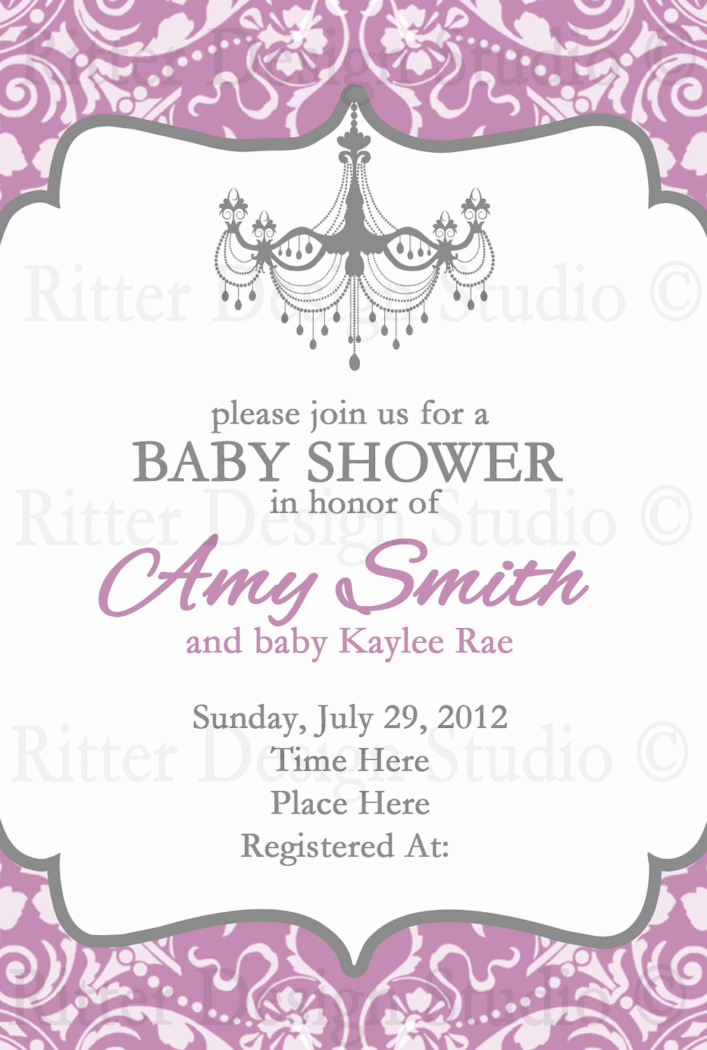 Baby Shower Invitation Messages Awesome Elegant Baby Shower Invitation by Ritterdesignstudio On Etsy