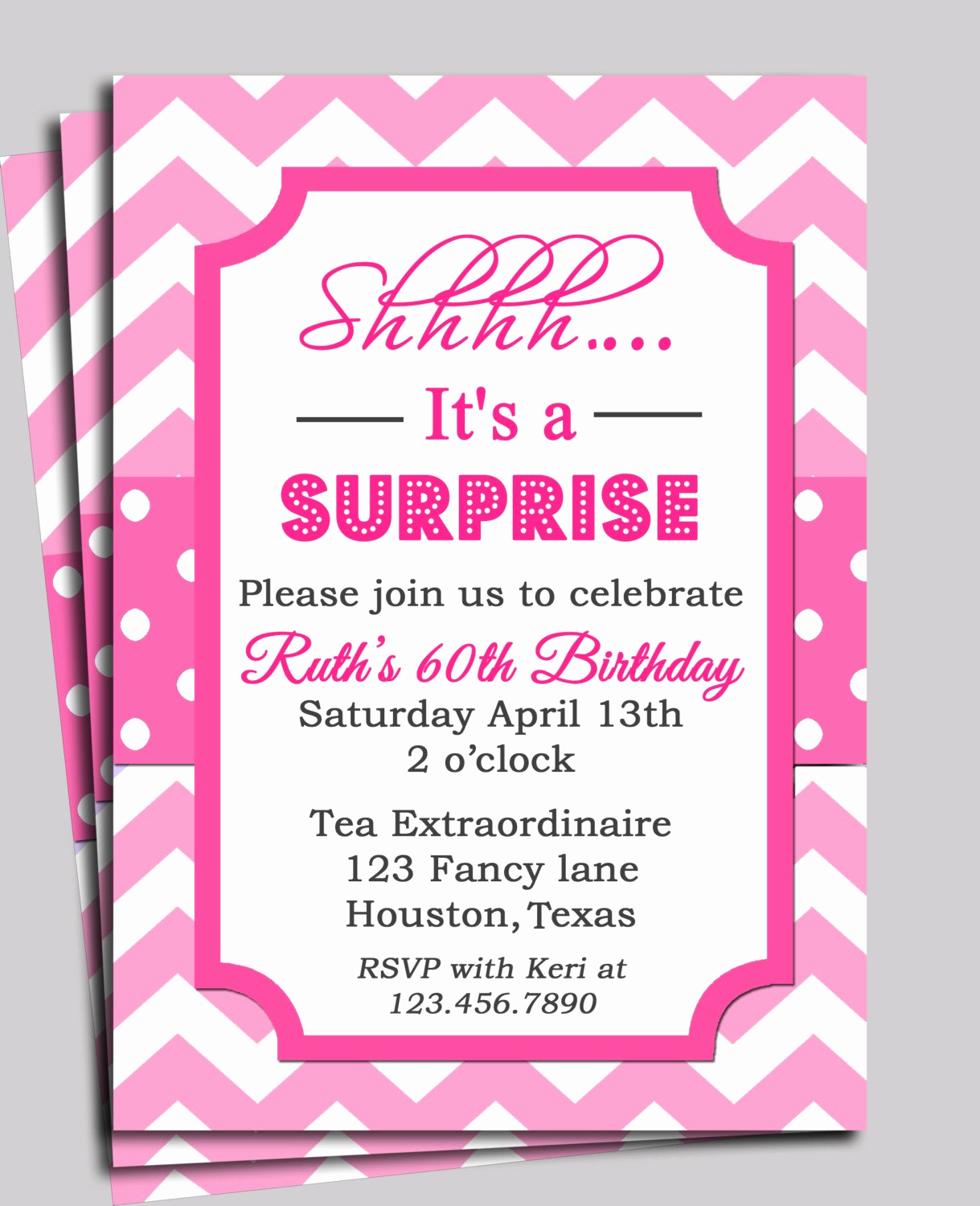 Baby Shower Invitation Messages Beautiful Chevron Invitation Printable or Free Shipping You Pick