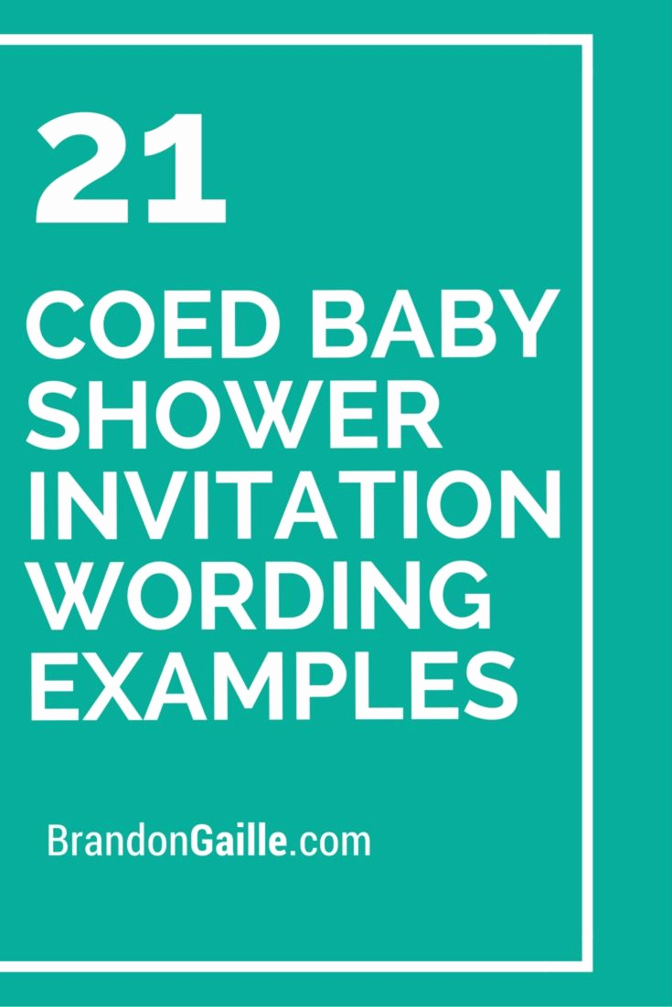 Baby Shower Invitation Messages New 21 Coed Baby Shower Invitation Wording Examples