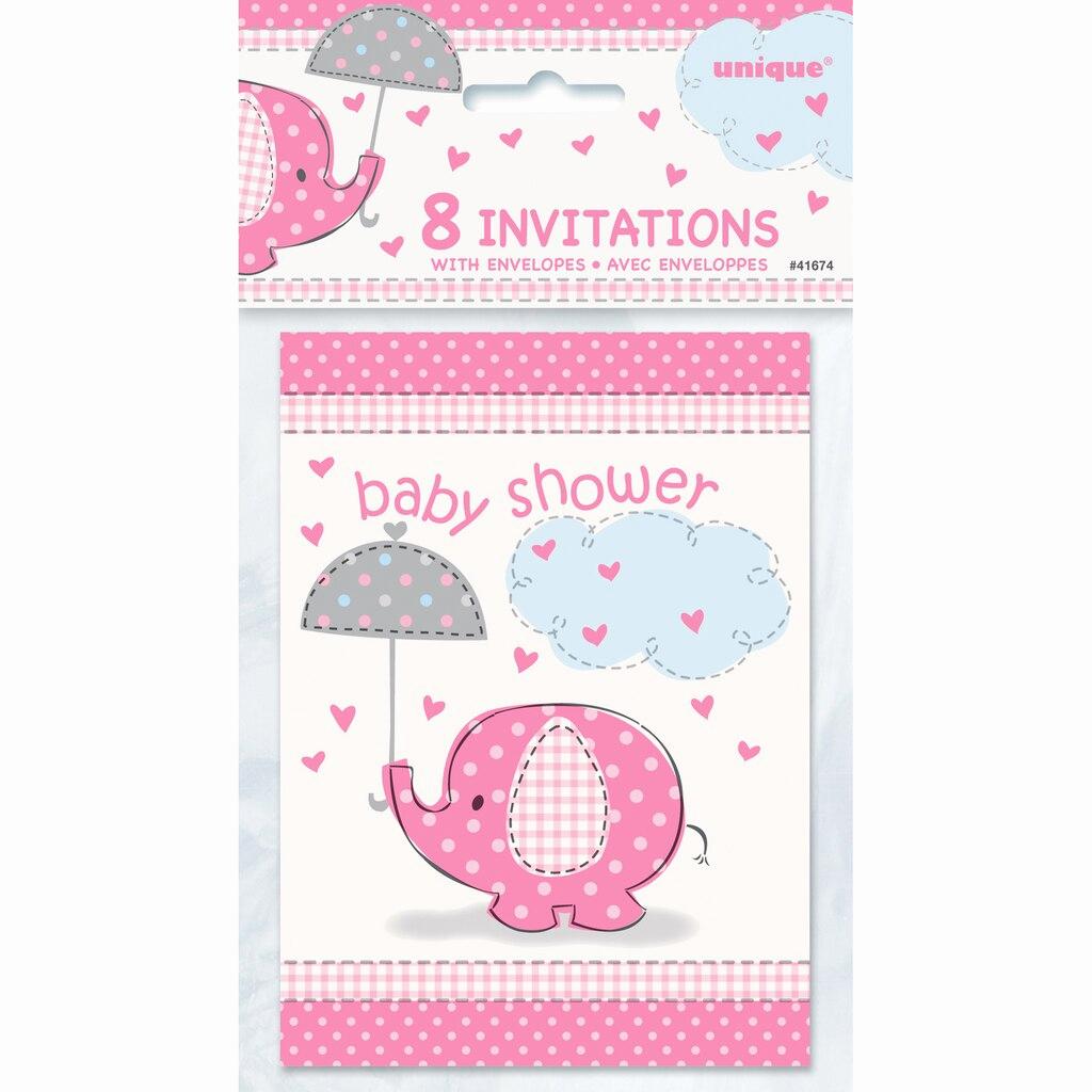 Baby Shower Invitation Pics Unique Pink Elephant Baby Shower Invitations 8ct