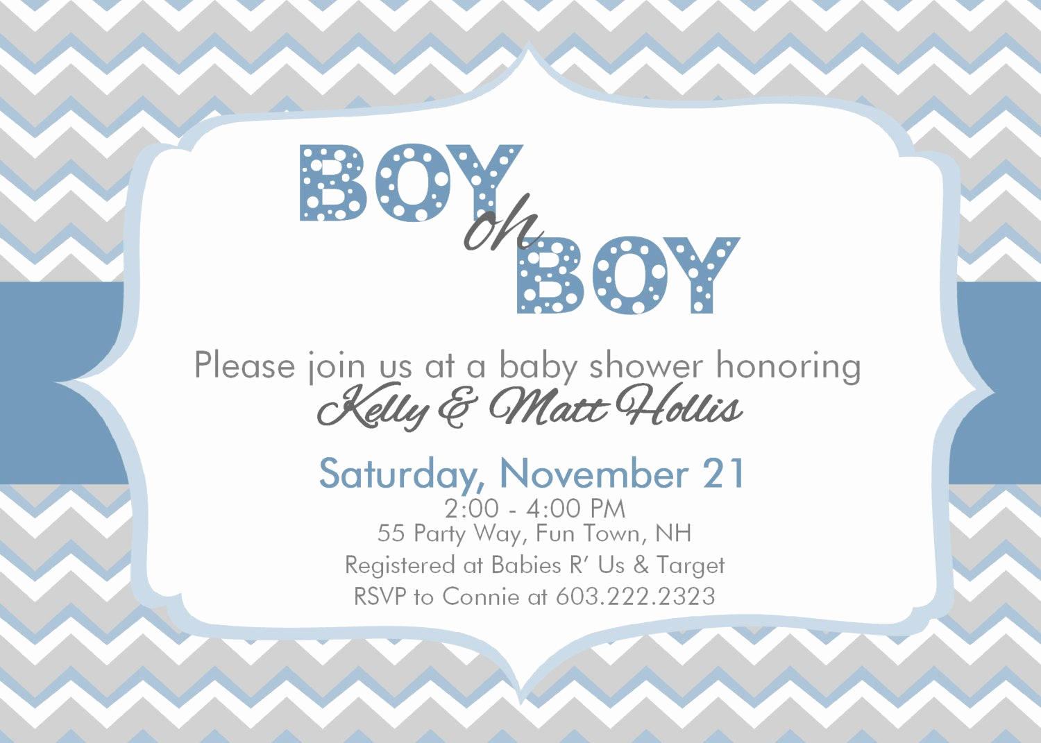 Baby Shower Invitation Pictures Awesome Chevron Baby Shower Invitation Boy Chevron Boy Oh Boy Baby