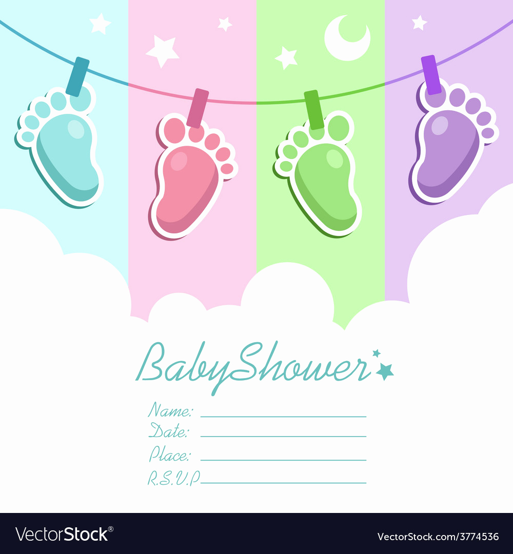 Baby Shower Invitation Pictures Fresh Baby Shower Invitation Card Royalty Free Vector Image