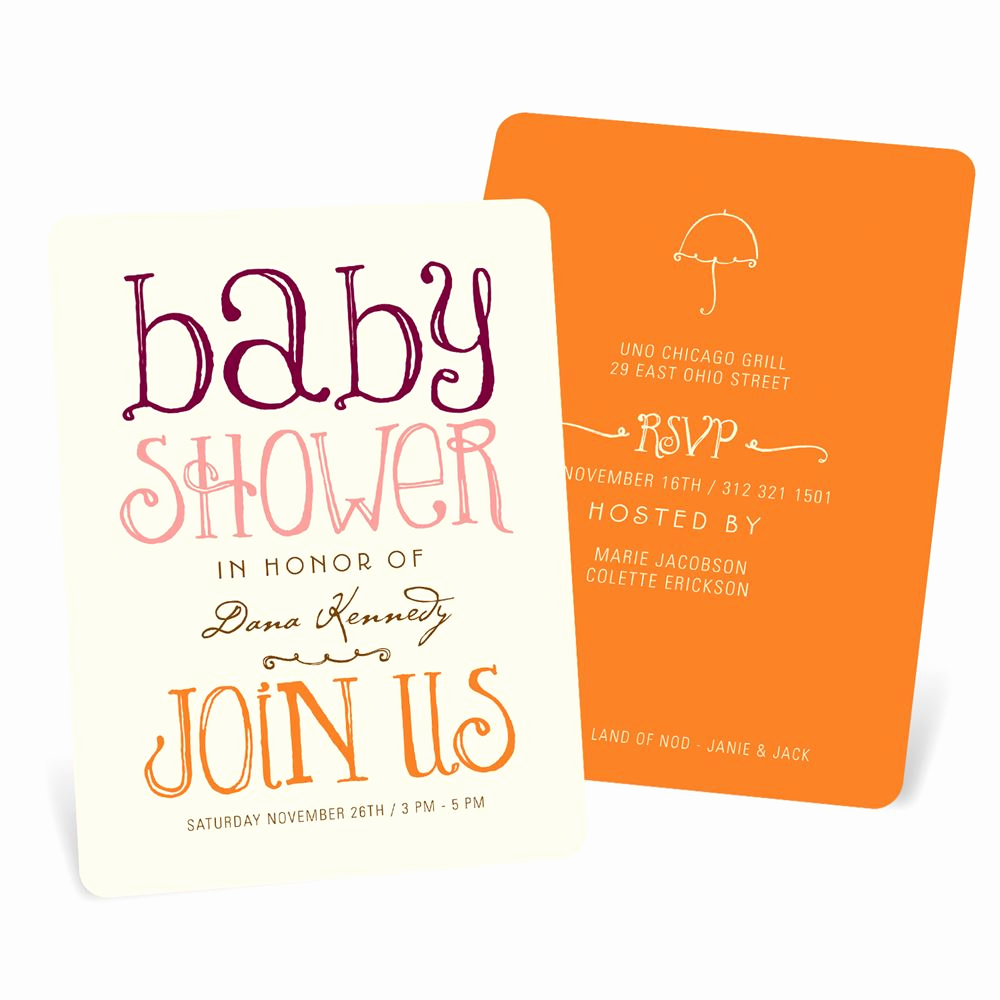 Baby Shower Invitation Pictures Inspirational Wel Ing Color Baby Shower Invitations