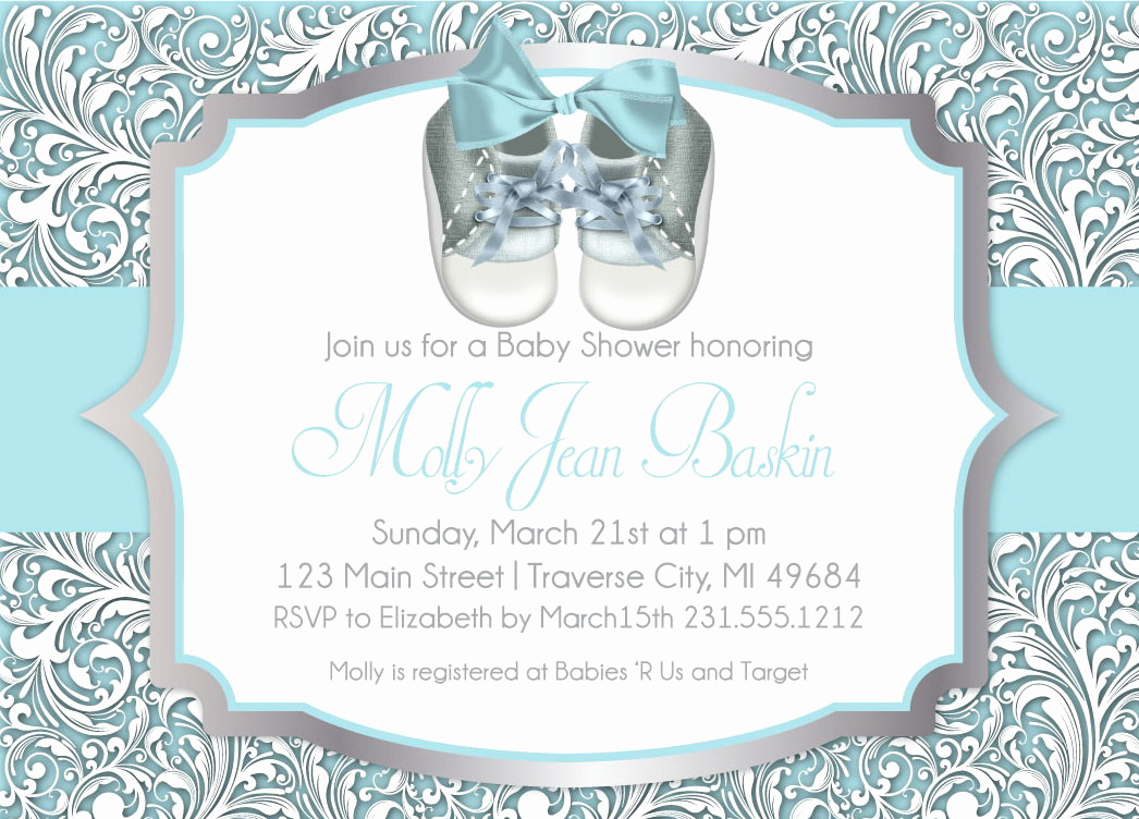Baby Shower Invitation Pictures New Baby Shower Invitation Boy Baby Shower Shoes Printable
