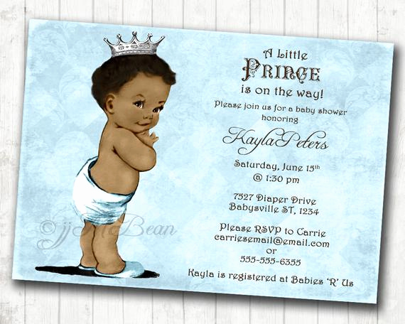 Baby Shower Invitation Pictures Unique Boy Baby Shower Invitation African American Baby Shower