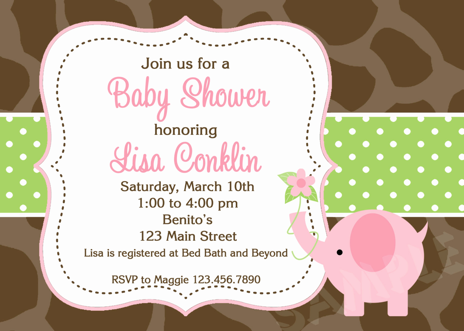 Baby Shower Invitation Pictures Unique Couples Baby Shower Invitations Pink and Gray Elephant