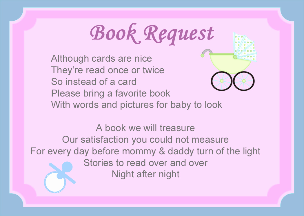 Baby Shower Invitation Poems Awesome Baby Shower Book Poems