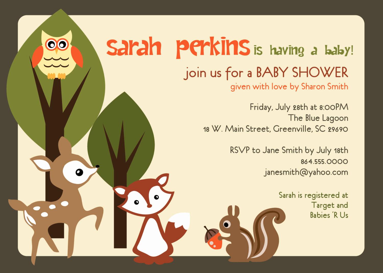 Baby Shower Invitation Printable Best Of Printable Baby Shower Invitation Woodland Animals Creatures