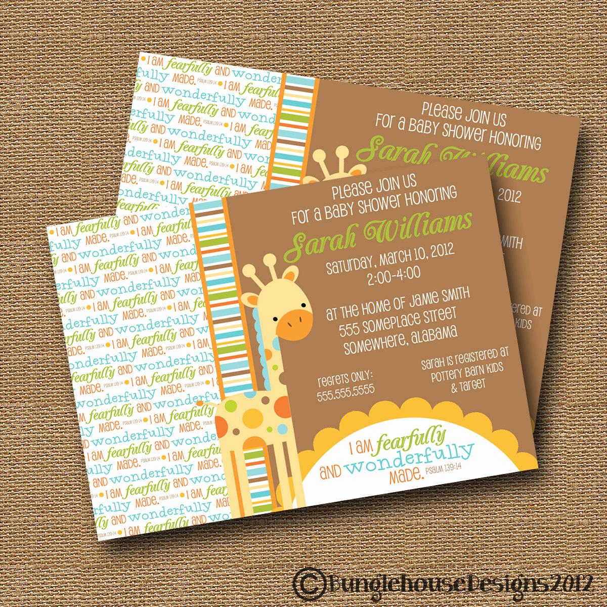 Baby Shower Invitation Printable Elegant Giraffe Baby Shower Invitation Diy Printable Baby Boy