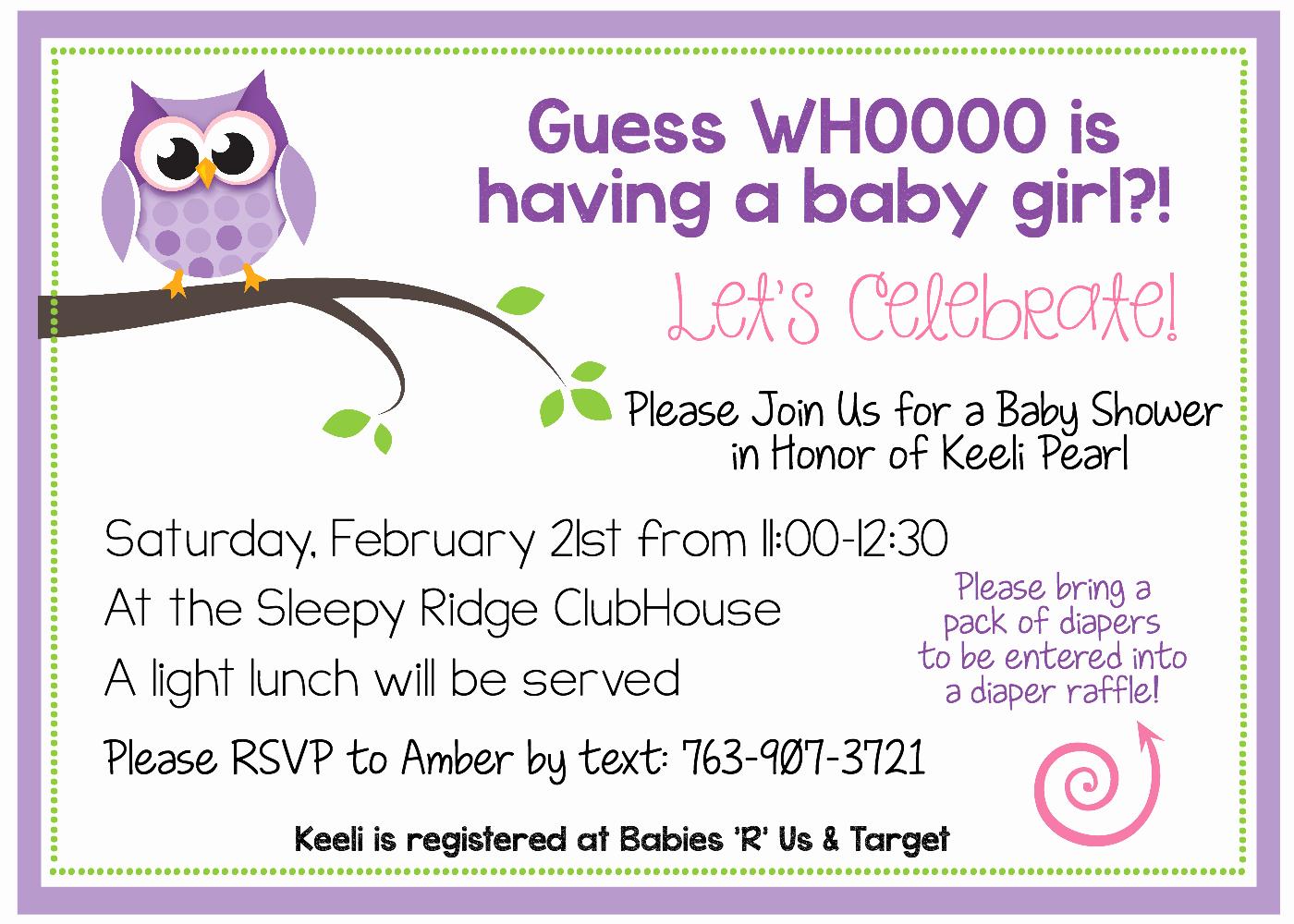 Baby Shower Invitation Printable Lovely Free Printable Owl Baby Shower Invitations & Other