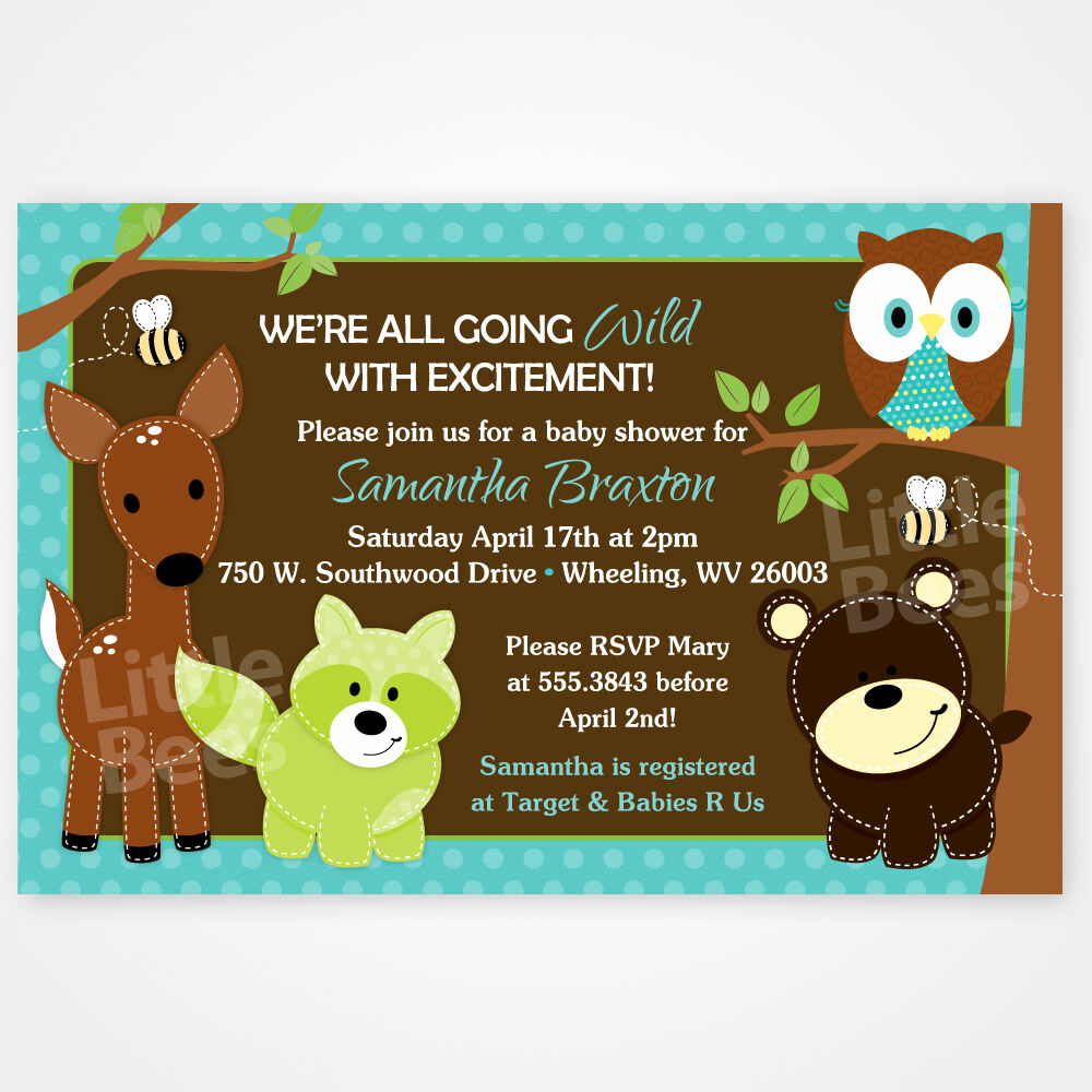 Baby Shower Invitation Printable Luxury Woodland forest Animal Friends Printable Baby Shower or