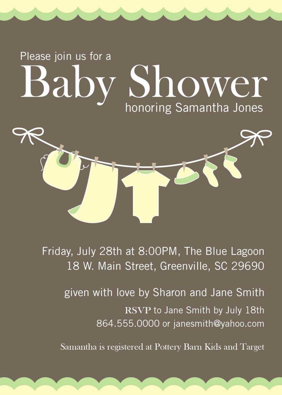 Baby Shower Invitation Printable New Baby Shower Invitation Printable Yellow Green by Ohcreative E