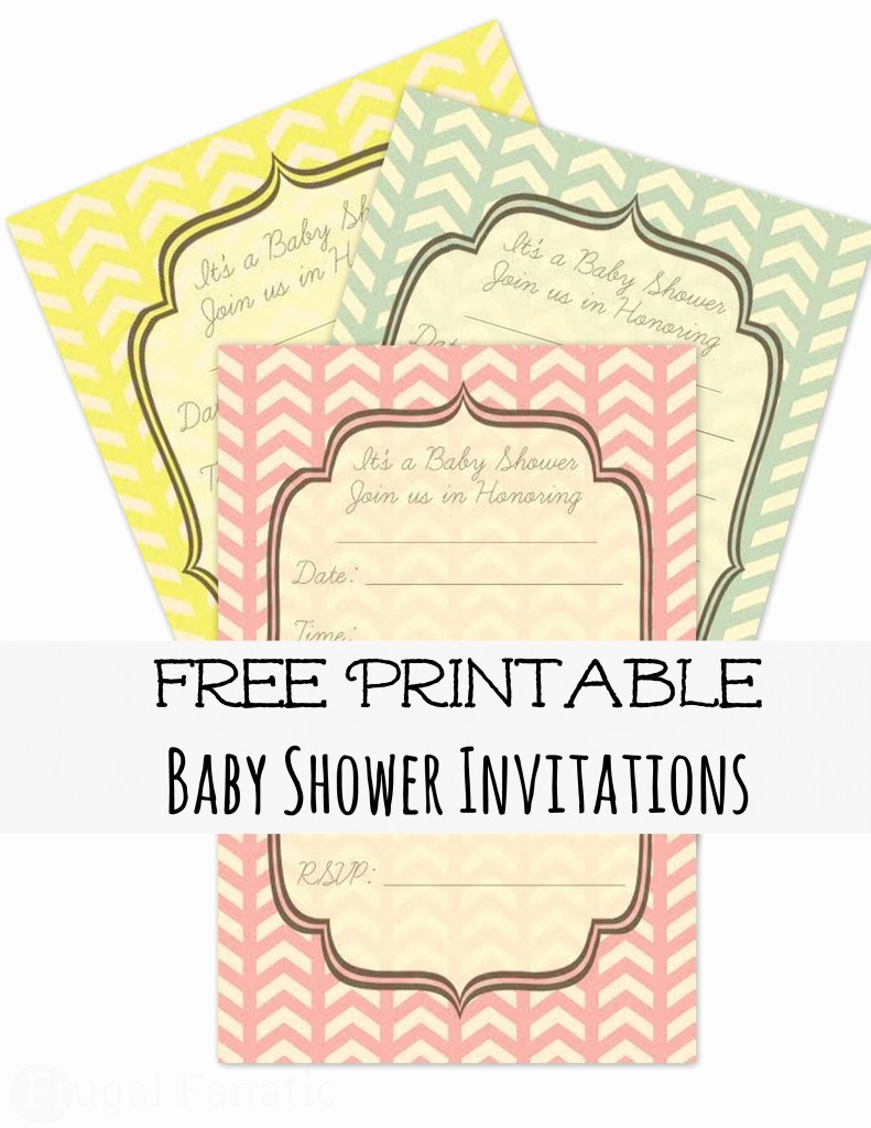 Baby Shower Invitation Printable New Free Baby Shower Invites Frugal Fanatic