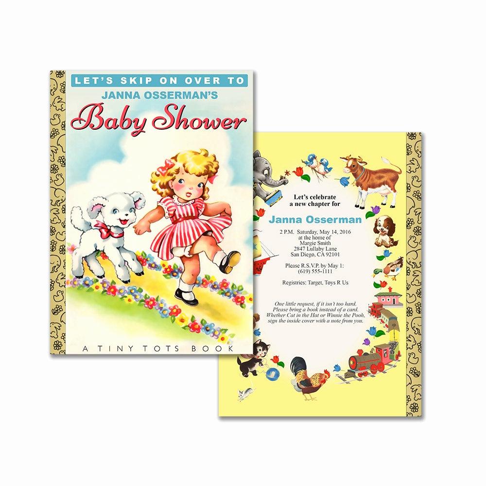Baby Shower Invitation Printable Unique Storybook Baby Shower Invitation Diy Printable Invitation