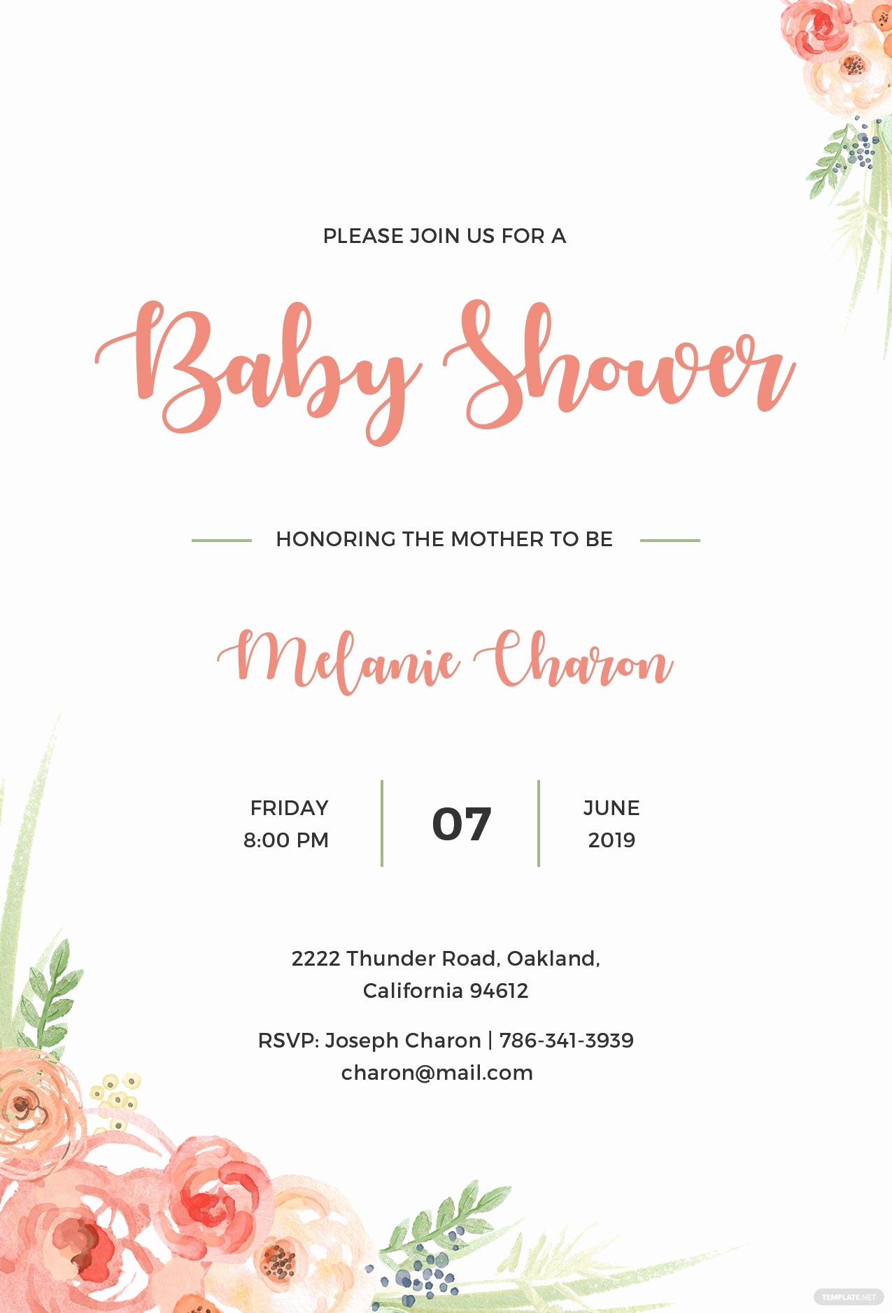 Baby Shower Invitation Template Word Best Of Free Baby Shower Invitation Template In Psd Ms Word