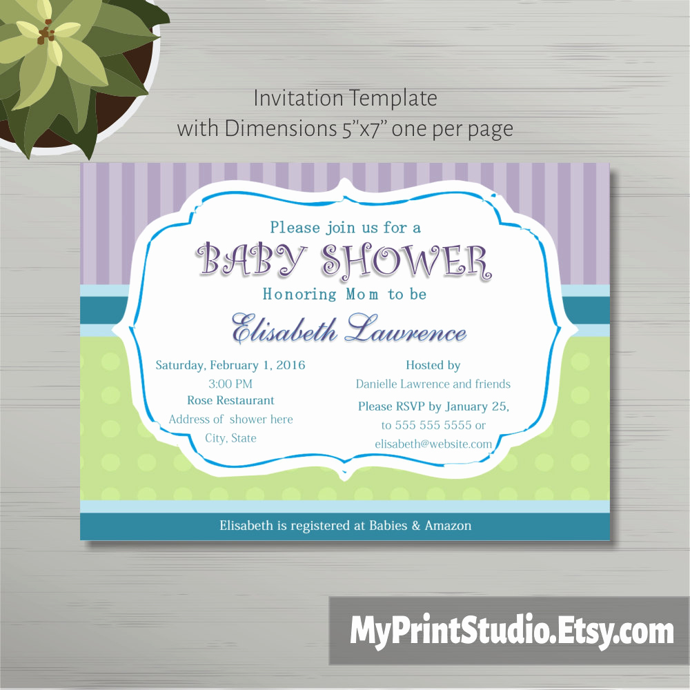 Baby Shower Invitation Template Word Inspirational Printable Baby Shower Invitation Template In Ms Word Boy Girl