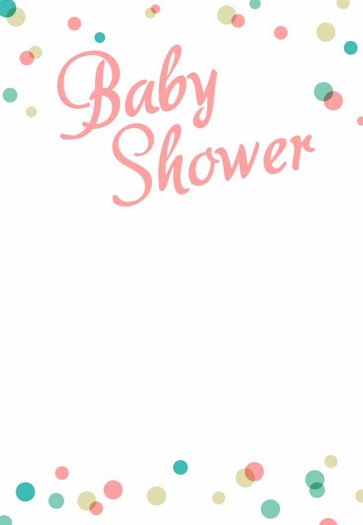 Baby Shower Invitation Template Word Lovely Dancing Dots Borders Free Printable Baby Shower