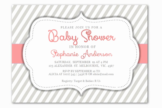 Baby Shower Invitation Template Word New Diy Editable Microsoft Word Baby Girl Shower by Inkpower