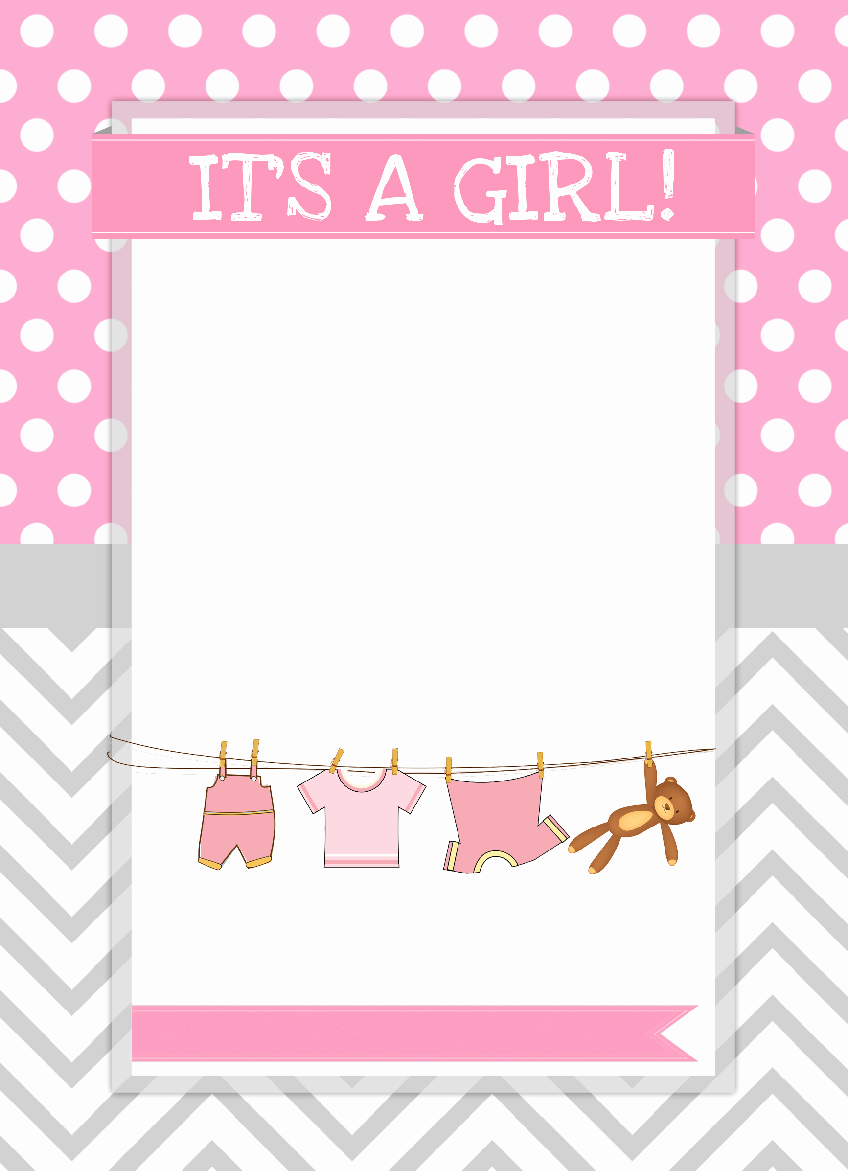 Baby Shower Invitation Templates New Baby Girl Shower Free Printables How to Nest for Less™