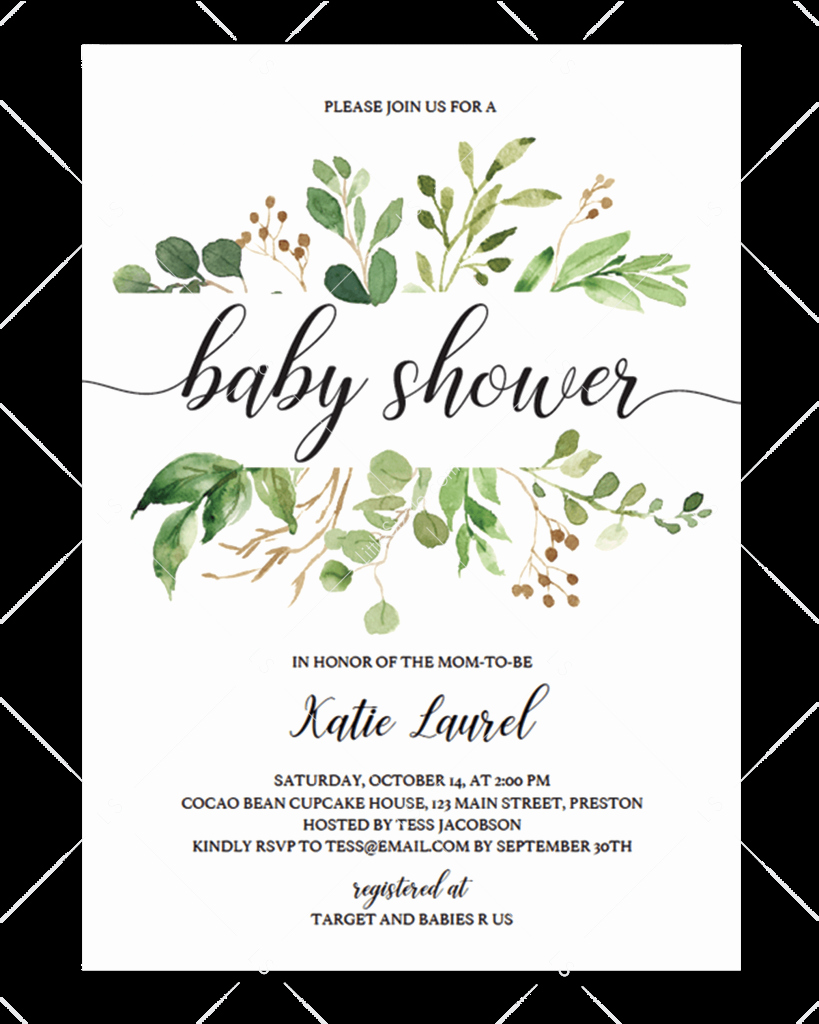 Baby Shower Invitation Templates New Littlesizzle