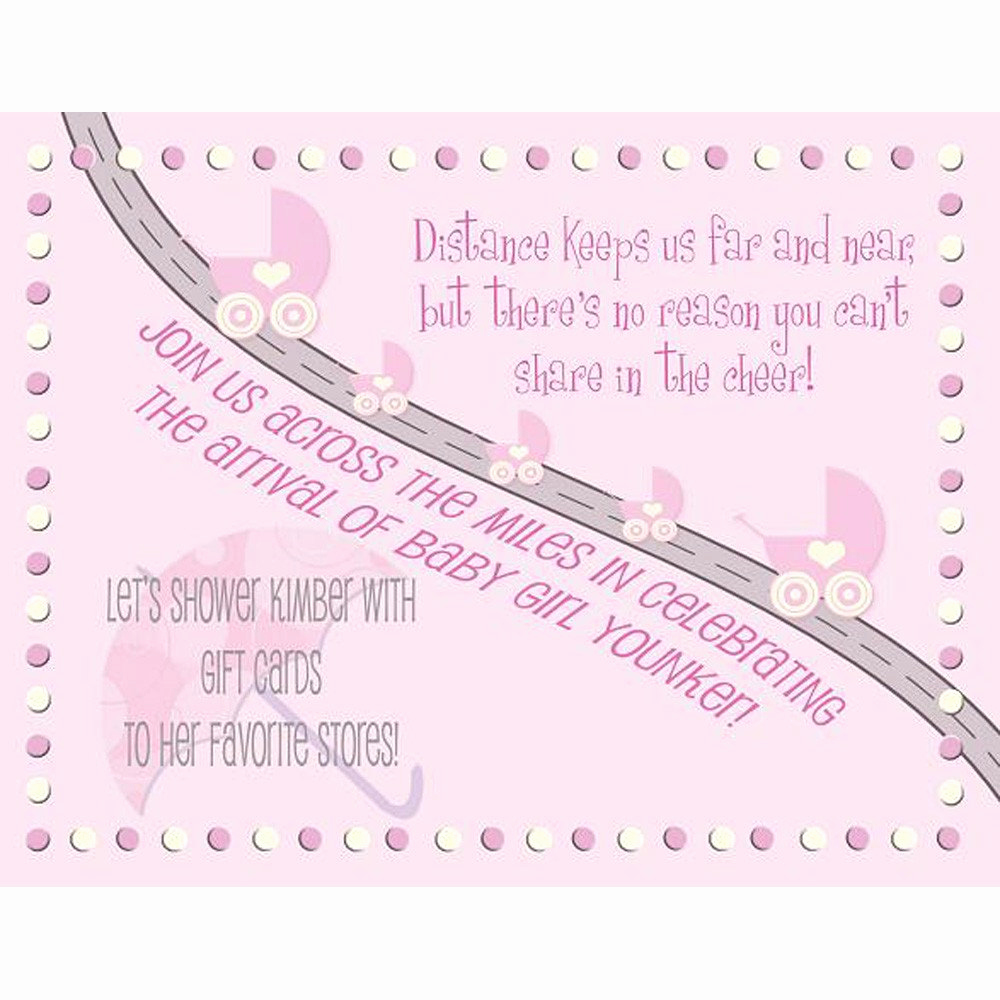 Baby Shower Invitation Text Lovely Baby Shower Invitation Long Distance Boy or Girl