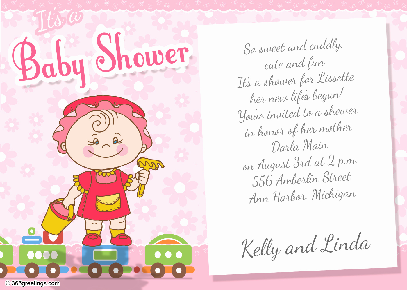 Baby Shower Invitation Text Luxury Baby Shower Invitation Wording for Girl 365greetings