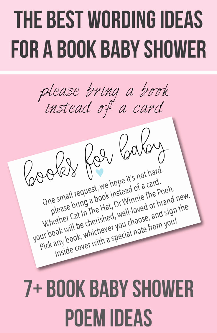 Baby Shower Invitation Text New Book Baby Shower Invitations & Wording Ideas