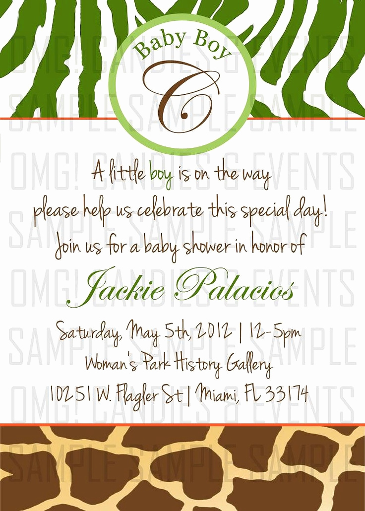 Baby Shower Invitation themes Awesome Safari theme Baby Shower Invitation