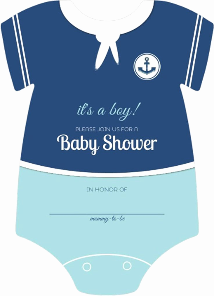 Baby Shower Invitation themes Awesome Sailor Esie Boys Nautical themed Fill In Blank Baby