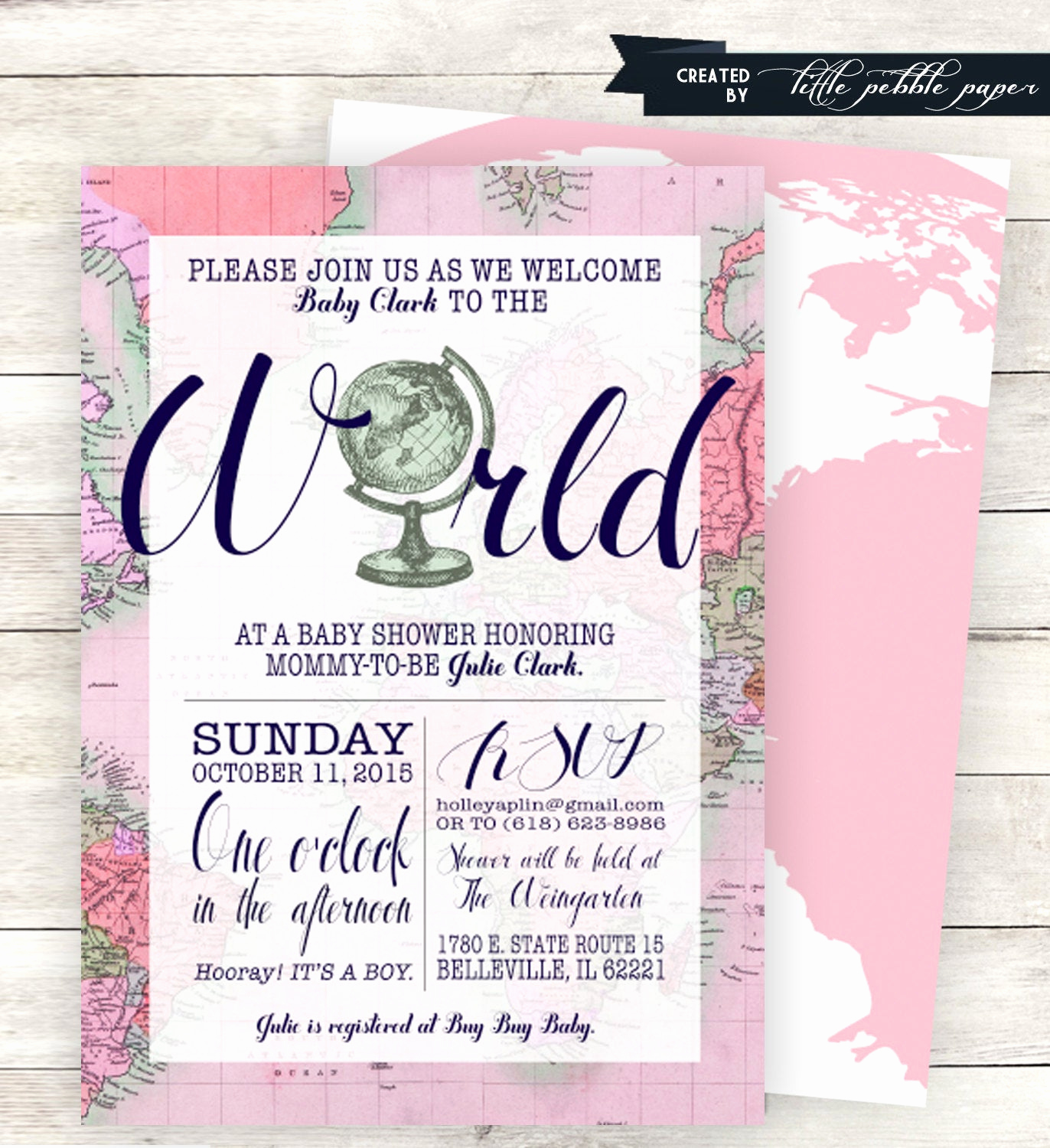 Baby Shower Invitation themes Lovely Pink Wel E to the World Baby Shower Invitation Printable
