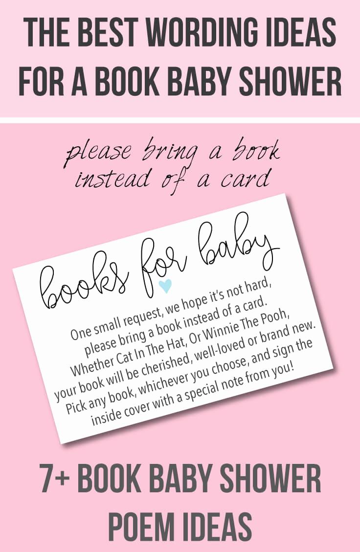 Baby Shower Invitation Wording Luxury Book Baby Shower Invitations & Wording Ideas