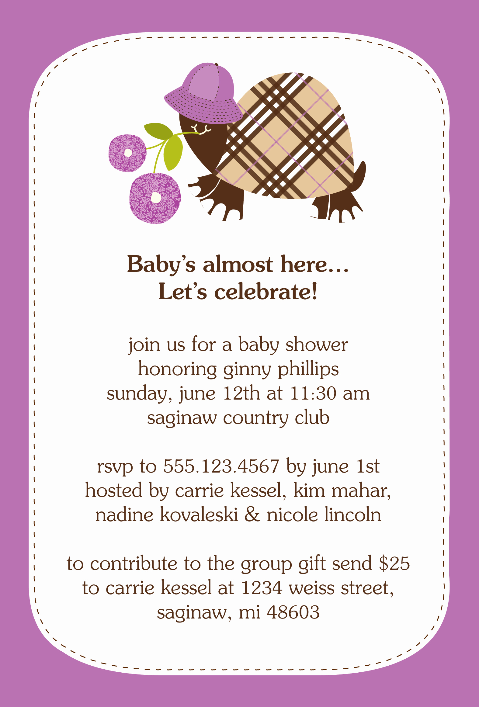 Baby Shower Invitation Wording Luxury Invitation Contest Design Entry Burberry Turtle Baby
