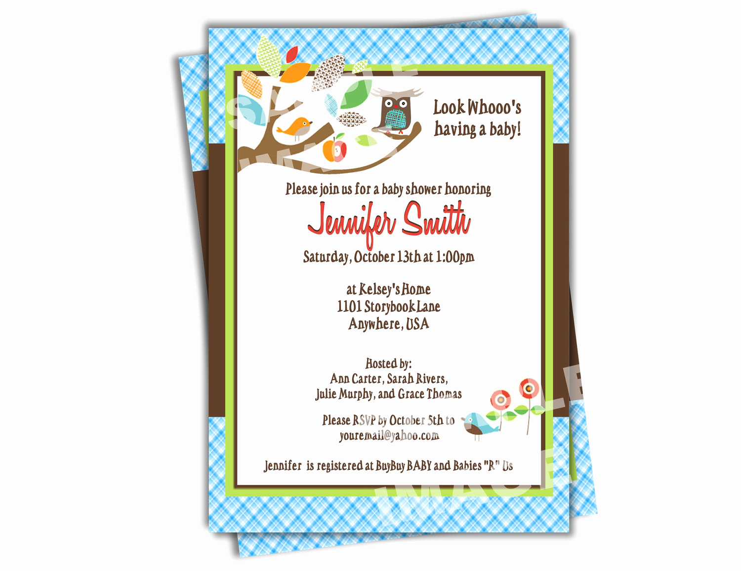 Baby Shower Pics for Invitation Awesome Owl Baby Shower Invitation Skiphop Treetop Friends Baby