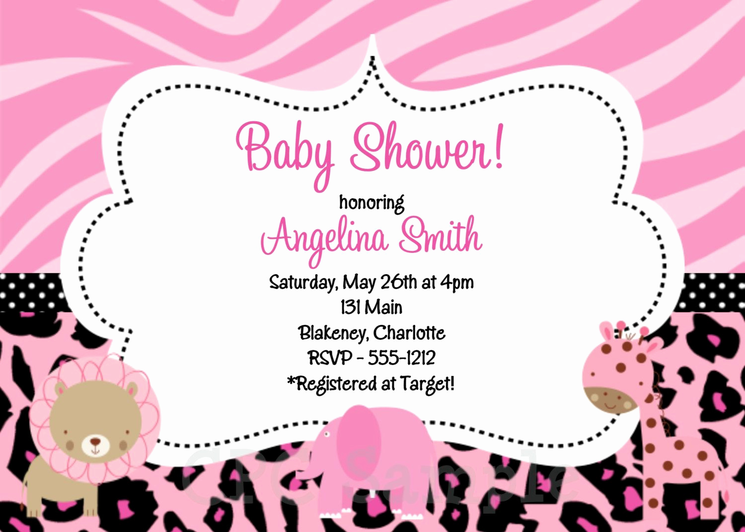 Baby Shower Pics for Invitation Beautiful Baby Shower Invitation Baby Girl Shower Invitations