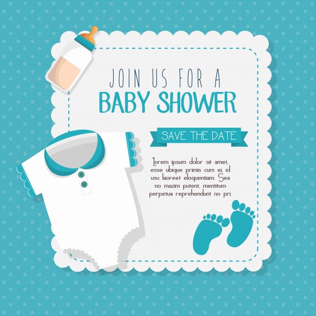 Baby Shower Pics for Invitation Beautiful Baby Shower Invitation Card Vector Illustration Design
