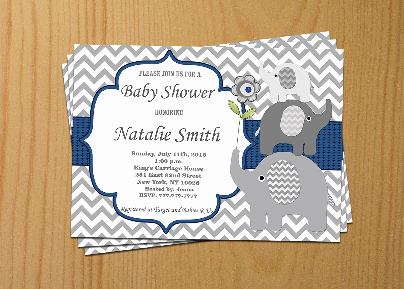 Baby Shower Pics for Invitation Inspirational Elephant Baby Shower Invitation Boy Baby Shower Invitation