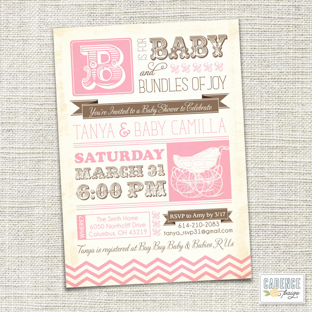 Baby Shower Pics for Invitation Lovely Vintage Baby Shower Invitations
