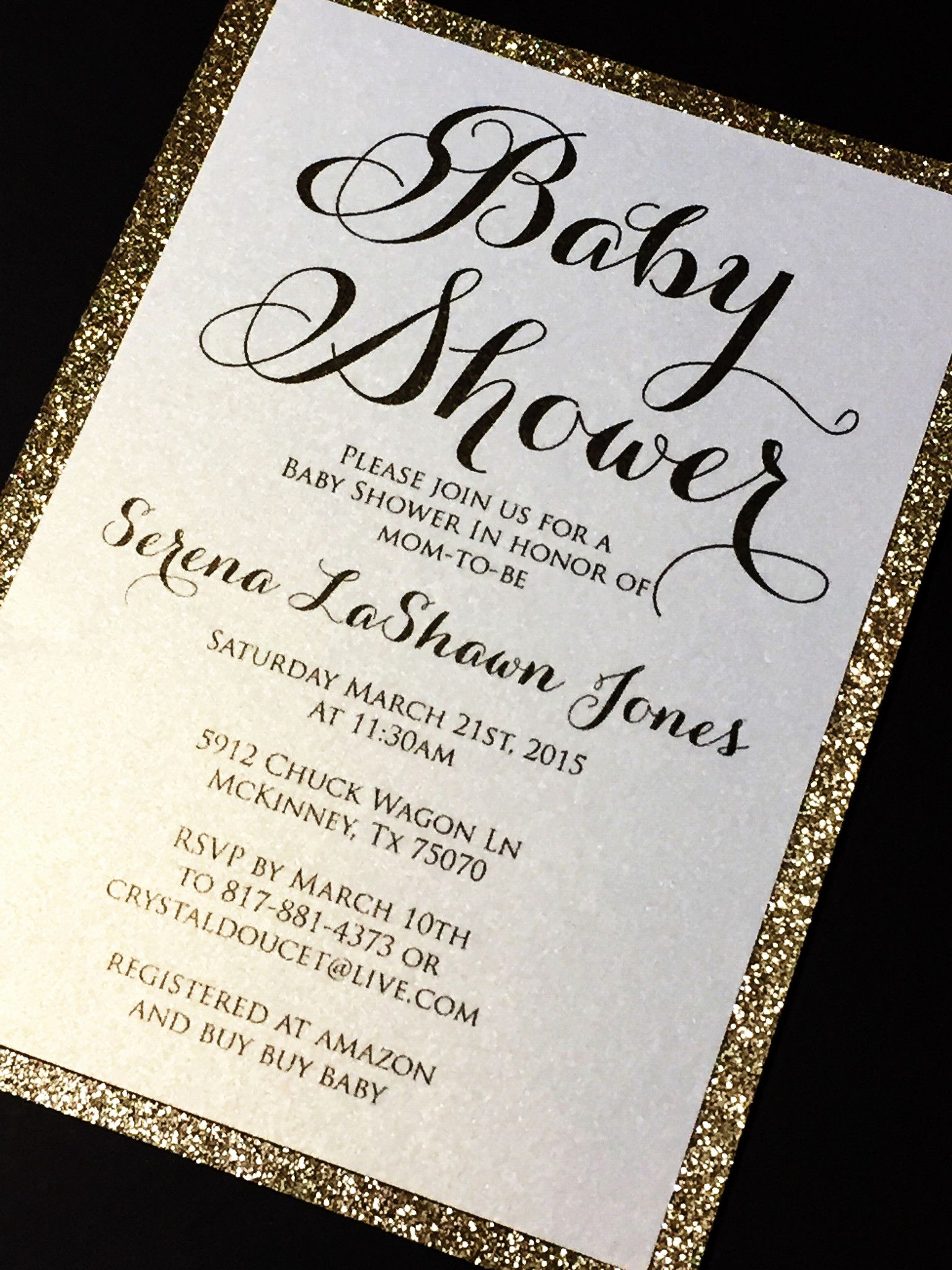 Baby Shower Pics for Invitation Luxury Glitter Baby Shower Invitations Elegant Baby Shower