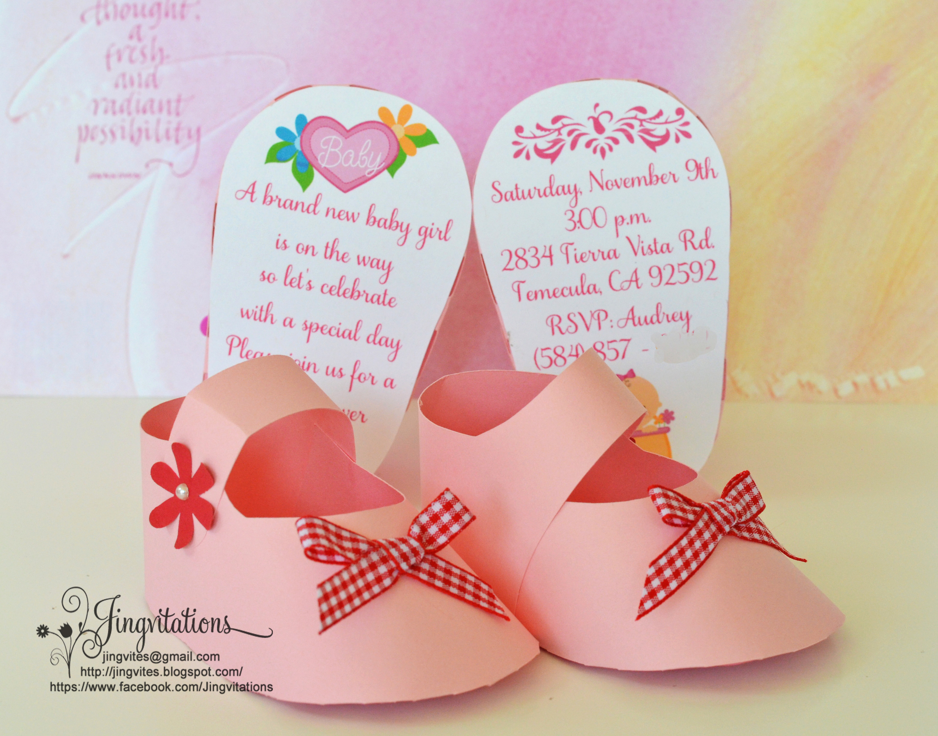 Baby Shower Pics for Invitation New 3d Invitations Very Unique Baby Shoe Invites for Baby