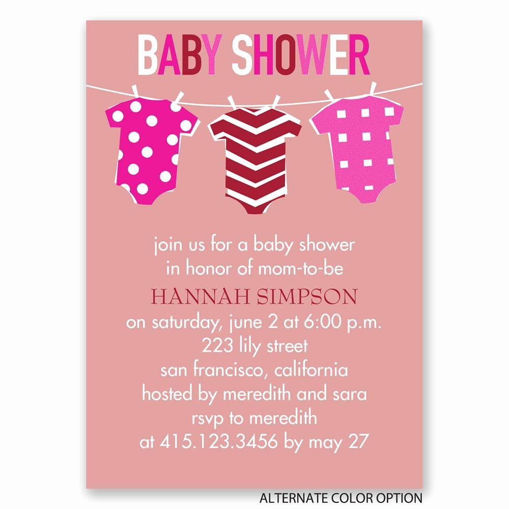 Baby Shower Pics for Invitation Unique Baby Clothes Mini Baby Shower Invitation
